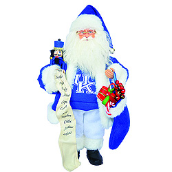 15 Inch Kentucky Wildcat Santa With Nutcracker