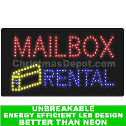LED Flashing Lighted Mailbox Rental Sign