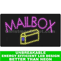 LED Flashing Lighted Mailbox Sign
