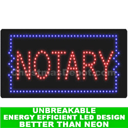 LED Flashing Lighted Notary Sign