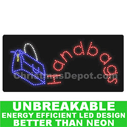 LED Flashing Lighted Handbags Sign