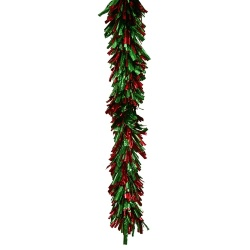 8.5 Foot Red Green Foil Garland