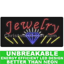 LED Flashing Lighted Jewelry Sign