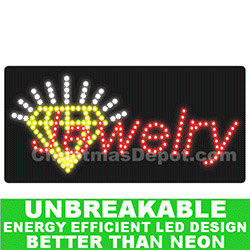 Flashing LED Lighted Jewelry Sign