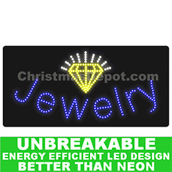 LED Lighted Flashing Jewelry Sign