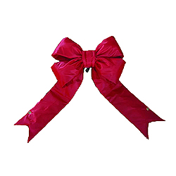 75 Inch Red Nylon Outdoor Bow Decoration