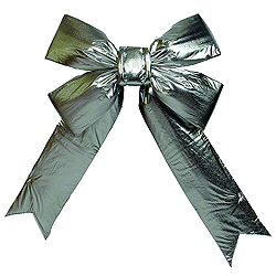 15 Inch Silver Four Loop Lame Indoor Bow