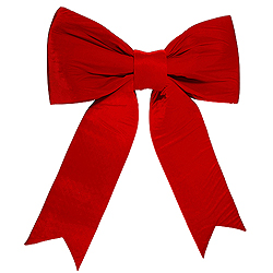 60 Inch Red Velvet Outdoor Bow