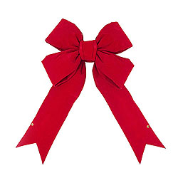 90 Inch Red Velvet Indoor Bow