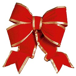 90 Inch Red And Gold Velvet Bow