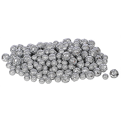 Silver Glitter Ball Ornaments - Box Of 72