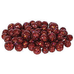 Wine Glitter Ball Ornaments - Box Of 72