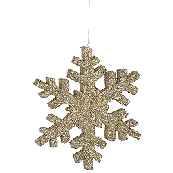 36 Inch Champagne Outdoor Glitter Snowflake Decoration