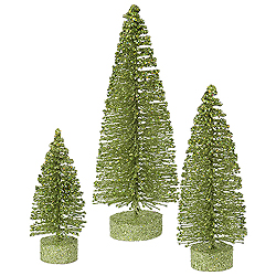 9 Inch Lime Oval Tree 3 per Set