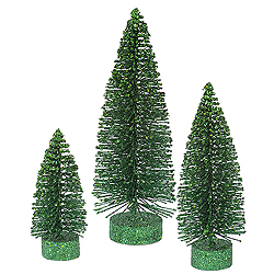 9 Inch Emerald Oval Tree 3 per Set