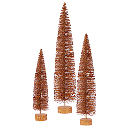 36 Inch Copper Oval Tree 3 per Set