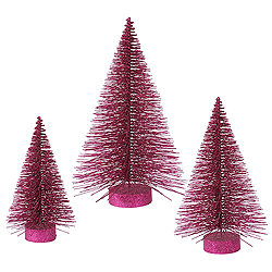 24 Inch Dark Mauve Fat Tree 3 per Set