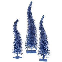 16 Inch Blue Curved Tree Box of 3