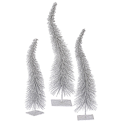 16 Inch Silver Curved Tree Box of 3