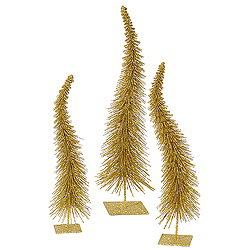 16 Inch Gold Curved Tree 3 per Set