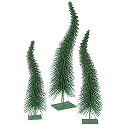 16 Inch Emerald Curved Tree 3 per Set