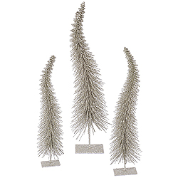 16 Inch Champagne Curved Tree 3 per Set