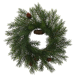 9 Inch Rattan Angel Pine Cone Wreath