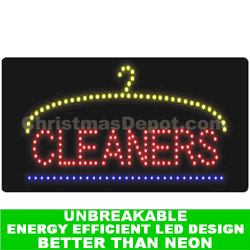 Flashing LED Lighted Cleaner Sign