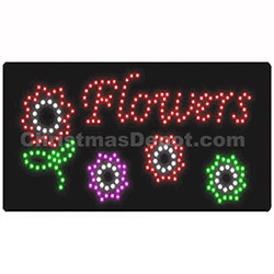 LED Flashing Lighted Flowers Sign