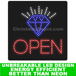 Jewelry LED Flashing Lighted Open Sign