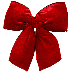 19 Inch Red Velvet Structured Bow