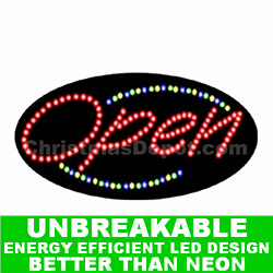 Lighted Flashing LED Open Sign