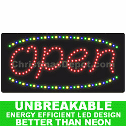 LED Lighted Flashing Open Sign