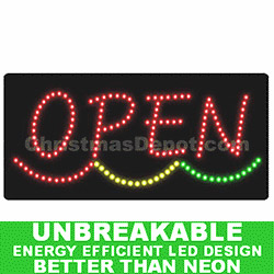Lighted LED Flashing Open Sign