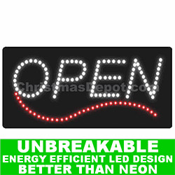 Animated Flashing Lighted LED Open Sign