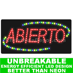 Flashing LED Lighted Abierto Sign