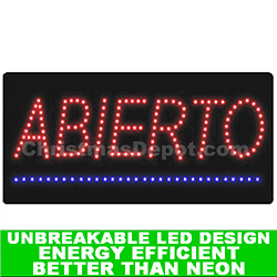 LED Lighted Flashing Abierto Sign