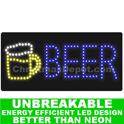 Flashing LED Lighted Beer Sign