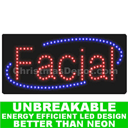 Flashing LED Lighted Facial Sign