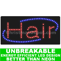 LED Flashing Lighted Hair Sign