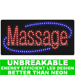 LED Flashing Lighted Massage Sign