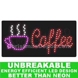 LED Flashing Lighted Coffee Sign