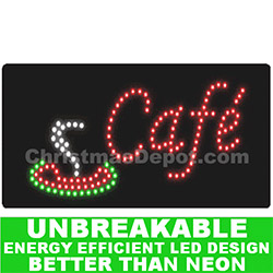 LED Flashing Lighted Cafe Sign