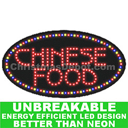 Flashing LED Lighted Chinese Food Sign