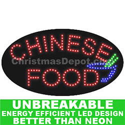 LED Flashing Lighted Chinese Food Sign