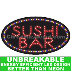 LED Flashing Lighted Sushi Bar Sign