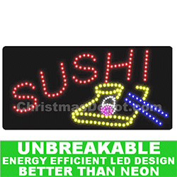 LED Flashing Lighted Sushi Sign