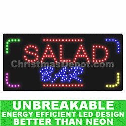 LED Flashing Lighted Salad Bar Sign