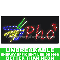 Flashing LED Lighted Pho Sign