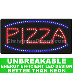 Flashing LED Lighted Pizza Sign